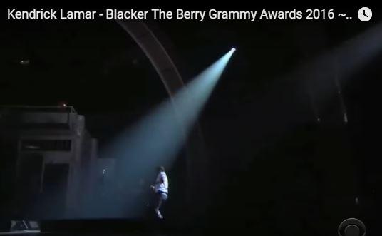 Kendrick Lamar Grammy 2016
